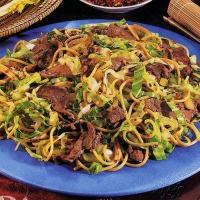 Image of Asian Beef And Vegetable Pasta Recipe, Group Recipes