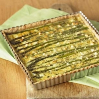 Image of Asparagus Goat Cheese Tart Recipe, Group Recipes