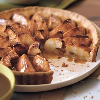 Image of Apple Tart With Caramel Sauce Recipe, Group Recipes