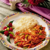 Image of Asian Chicken With Peppers And Tomatoes Recipe, Group Recipes