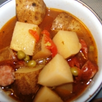 Image of An Ole Crock Of Smoked Sausage Stew Recipe, Group Recipes