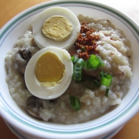 Chicken & Mushroom Porridge Recipe