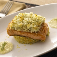 Image of Alouette Fat Free Feta Encrusted Salmon Recipe, Group Recipes