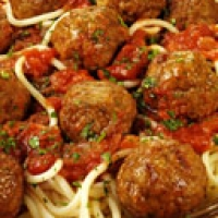 Image of Authentic Italian Spaghetti Sauce With Meat Balls Recipe, Group Recipes