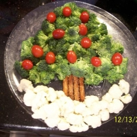 Christmas Tree Veggie Platter Recipe