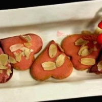 Image of Almonds Heart Biscuits Recipe, Group Recipes