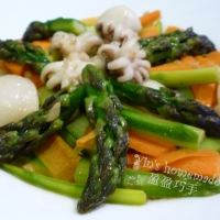 Image of Asparagus Thai Style With Squids Recipe, Group Recipes