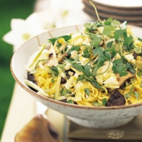 Image of Asian Noodle Mushroom And Cabbage Salad Recipe, Group Recipes