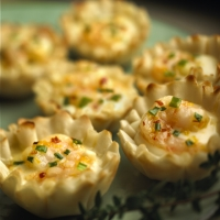 Image of Alouette Creme De Brie Shrimp Cups Recipe, Group Recipes