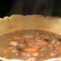 Image of Antique Old-fashioned Bean Soup Recipe, Group Recipes