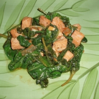 how to cook adobong kangkong with tofu