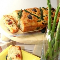 Image of Asparagus, Sundried Tomato And Olive Loaf Recipe, Group Recipes