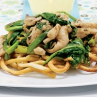 Image of Asian Chicken On Noodle Nests Recipe, Group Recipes