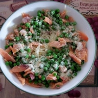 Image of Angel Hair Pasta With Peas And Smoked Salmon Recipe, Group Recipes