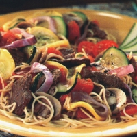 Image of Angel Hair Pasta And Beef Recipe, Group Recipes