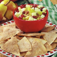 Image of Apple Salsa With Cinnamon Chips Recipe, Group Recipes