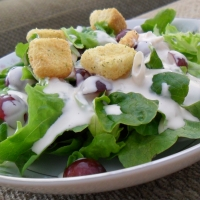 Image of Artisan Lettuce Salad With Creamy Zinfandel Vinaigrette Recipe, Group Recipes