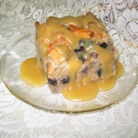 Image of Apple Bread Pudding With Bourbon Maple Sauce Recipe, Group Recipes