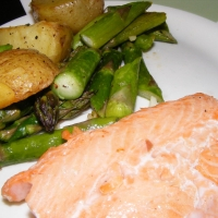 Oven-roasted Salmon, Asparagus And New Potatoes Recipe