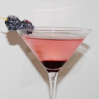 Image of A Blackberry Martini Recipe, Group Recipes