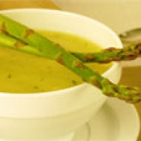 Image of Asapragus Leek And Potato Soup With Pine Nuts Recipe, Group Recipes