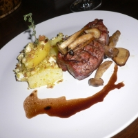 Filet Mignon Wild Mushrooms And Herbed Goat Cheese Fingerlings With ...