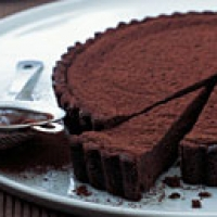 Bittersweet Chocolate Truffle Tart Recipe