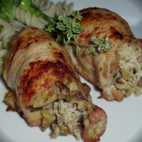 Image of Artichoke And Mushroom Stuffed Chicken Thighs Recipe, Group Recipes
