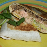 Image of A Whale Of A Salmon Burrito Recipe, Group Recipes