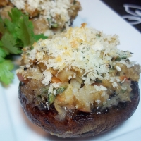 Image of Asian-y Stuffed Mushrooms Recipe, Group Recipes