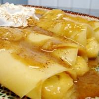 Caramel Banana Crepes Recipe