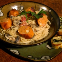 Image of A Yogurt Pasta...thing...with Garlic Parsley Rounds Recipe, Group Recipes