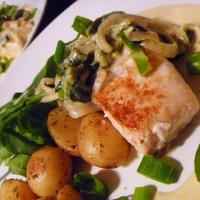Pescado Con Rajas Y Crema (halibut With Roasted Poblano Cream) Recipe