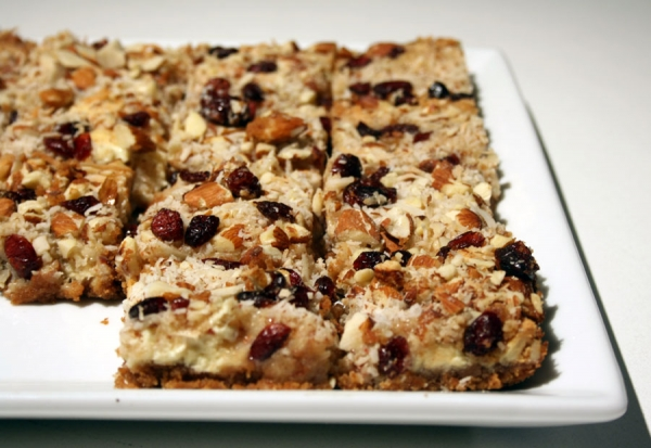 7 Layer Bars Eagle Brand http://www.buttercreambarbie.com/2011/01/7-layer-magic-hello-dolly-cookie-bars.html